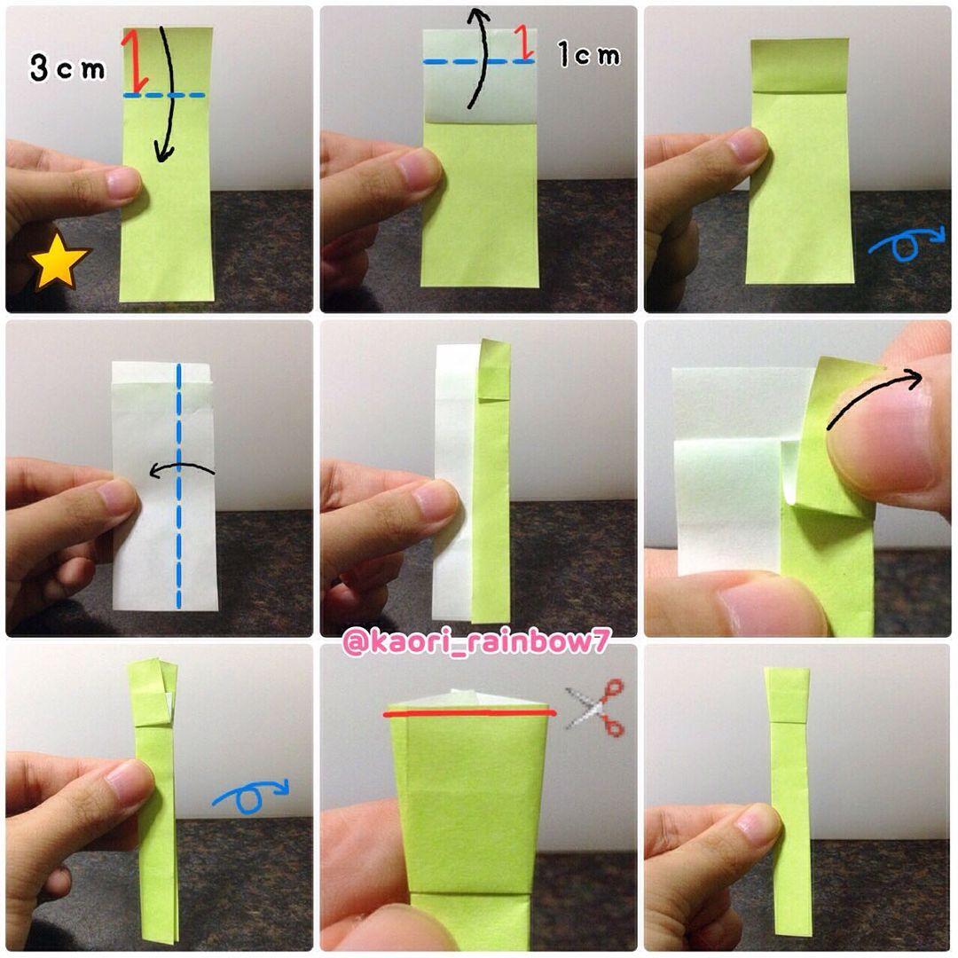 吹き棒1 カットした星印の折り紙を使います。