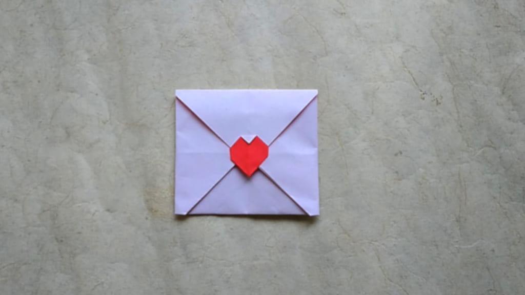 ハディさんによる💌の折り紙