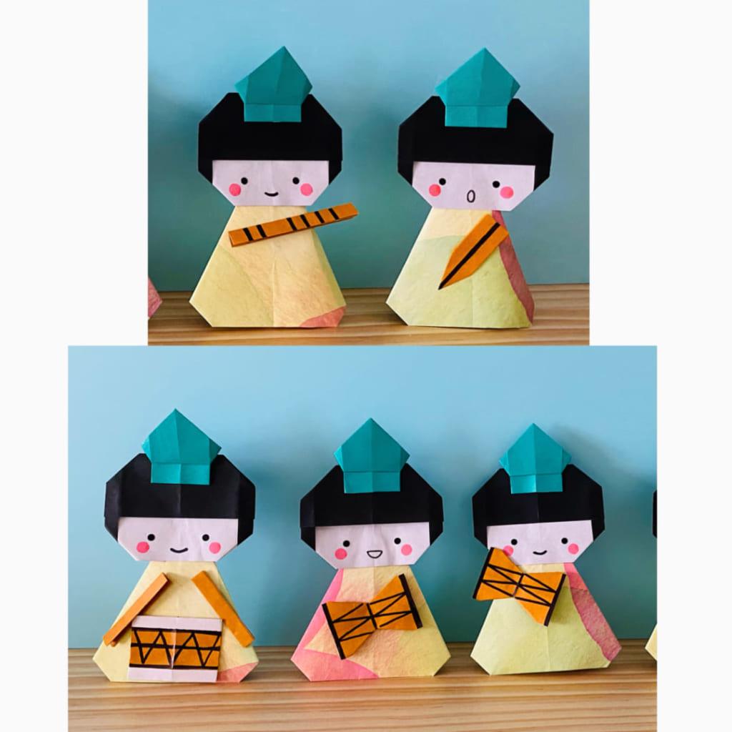 カミキィさんによる五人ばやしの折り紙