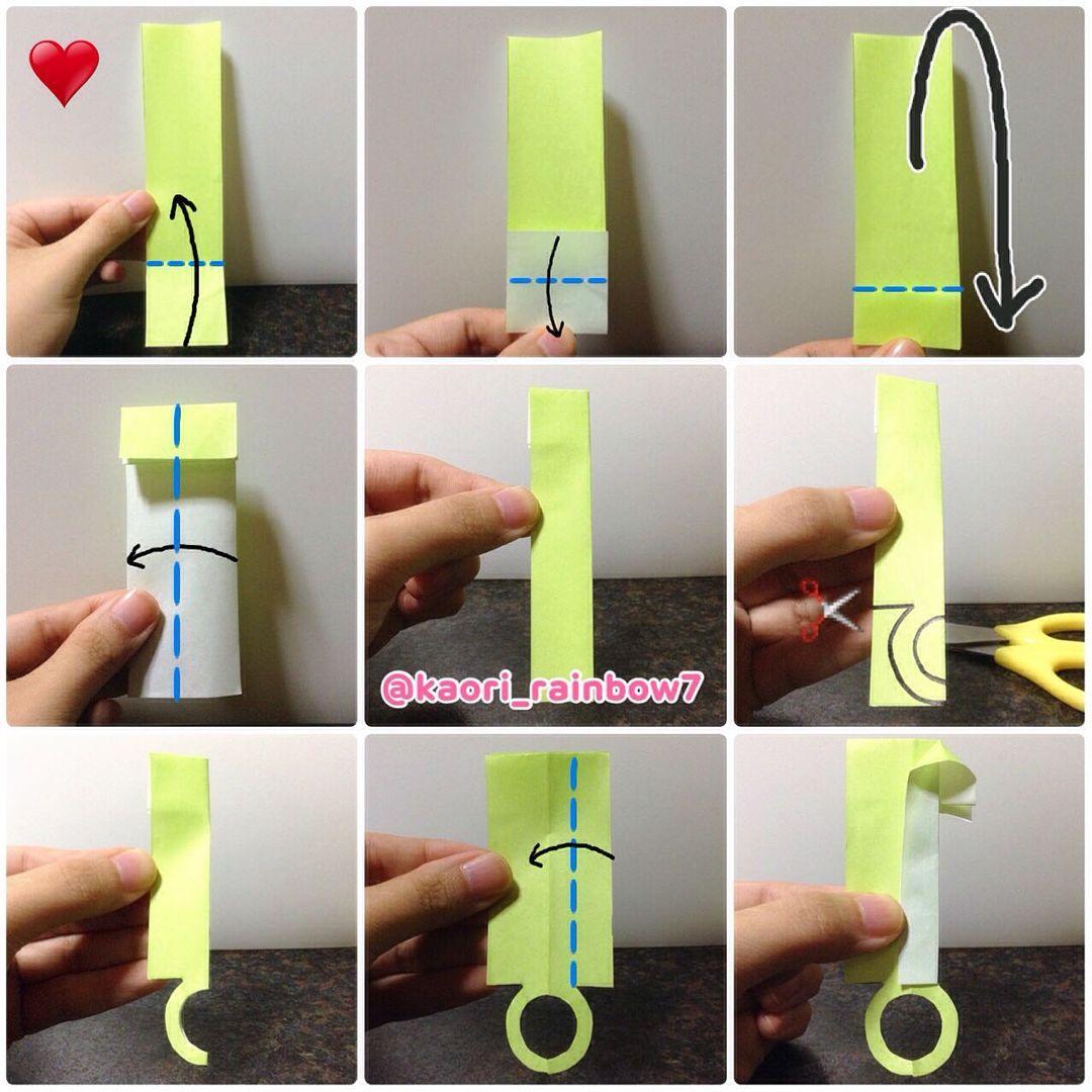 吹き棒2 カットしたハート印の折り紙を使います。息を吹きかける丸の形は、お好みの形に変更してもかわいいと思います。