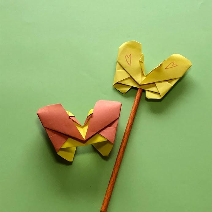 yuhpandaさんによるちょうちょの折り紙