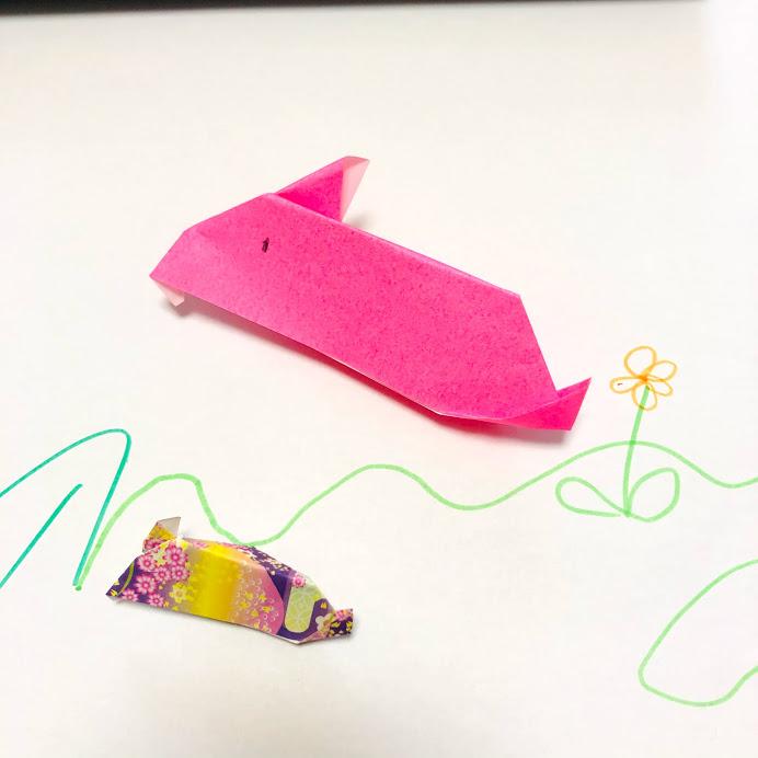 yuhpandaさんによるアレンジうさぎの折り紙