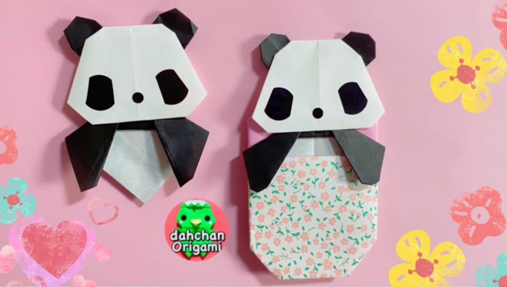 だ〜ちゃんさんによるひょっこりパンダの折り紙