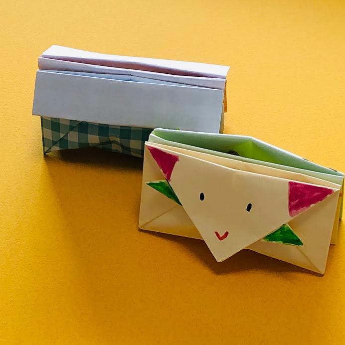 yuhpandaさんによる宇宙人のイヤリングケースの折り紙