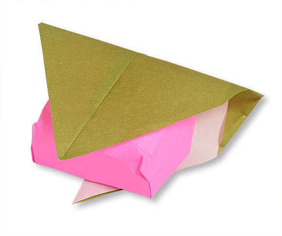 おりがみくらぶ(新宮文明)さんによるさくらもちの折り紙