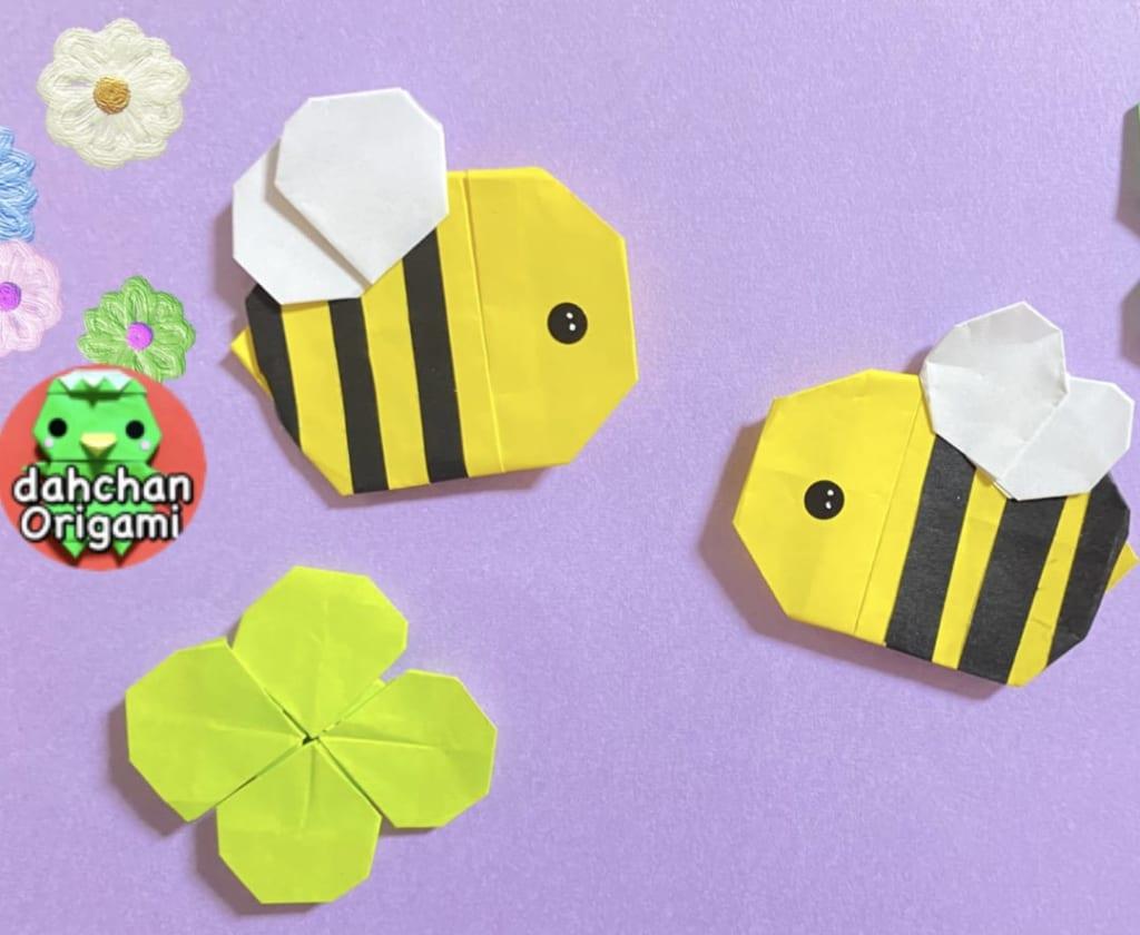 だ〜ちゃんさんによるぽってりミツバチの折り紙