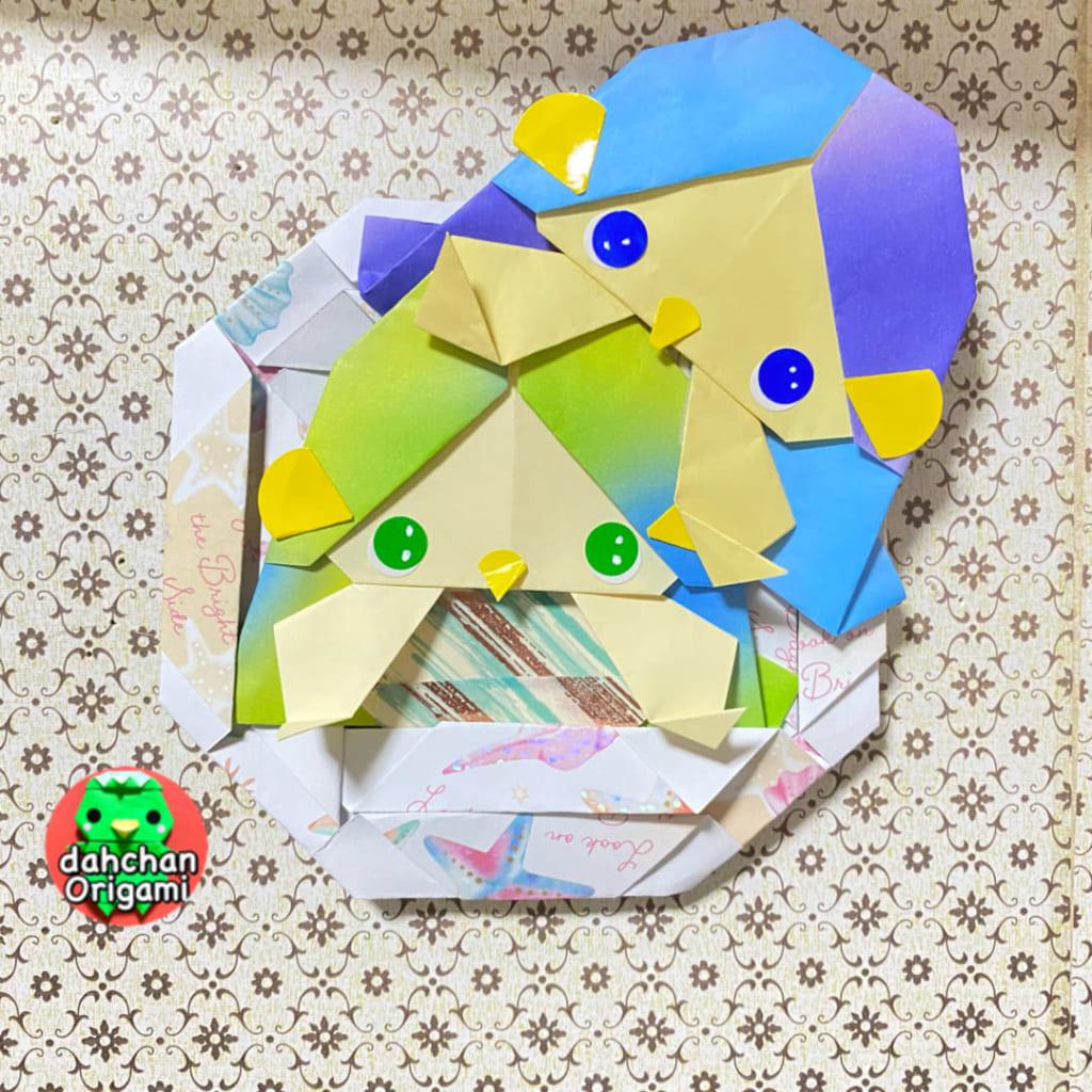 だ〜ちゃんさんによるひょっこりアマビエの折り紙