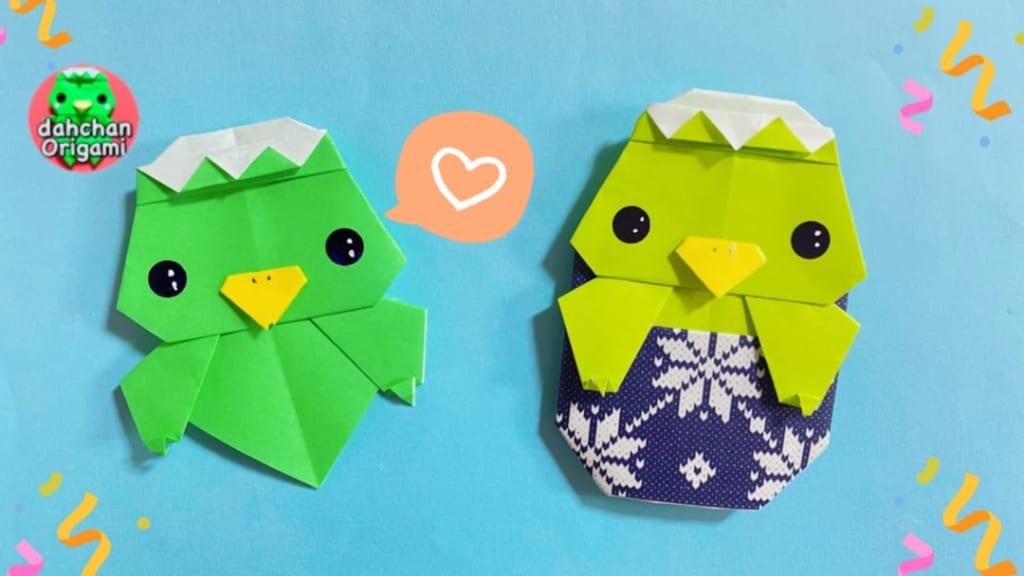 だ〜ちゃんさんによるひょっこりカッパ(かっぴー)の折り紙
