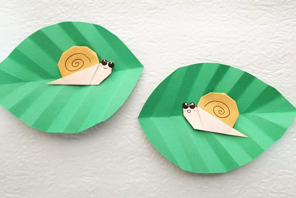 hiroko_daichanさんによるかたつむり②ツノなしバージョンの折り紙