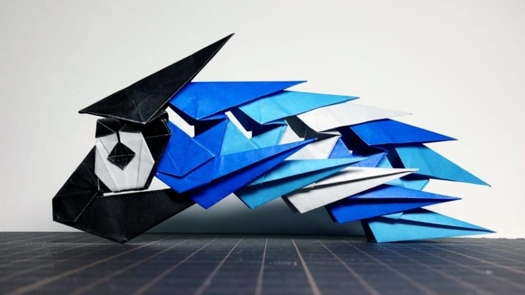 denさんによる無限連結式こいのぼりの折り紙