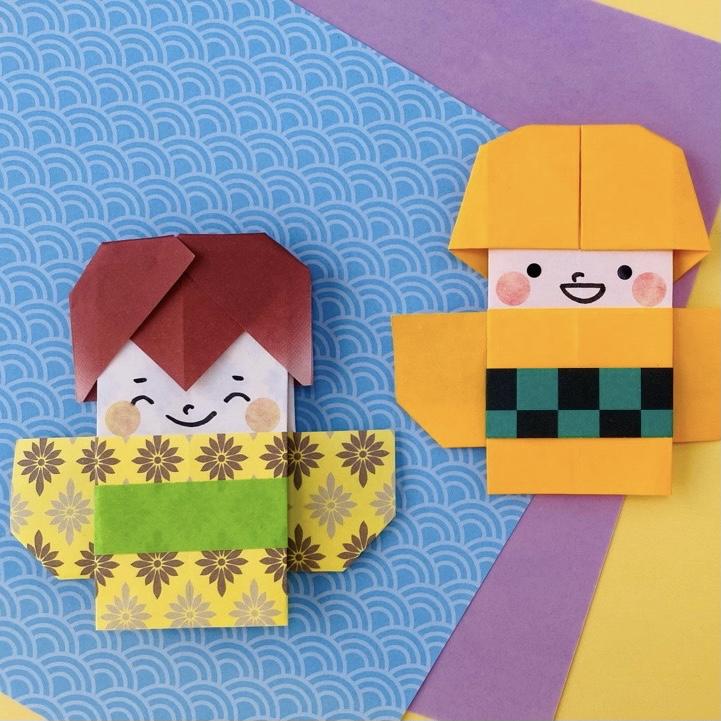 カミキィさんによるきものボーイの折り紙