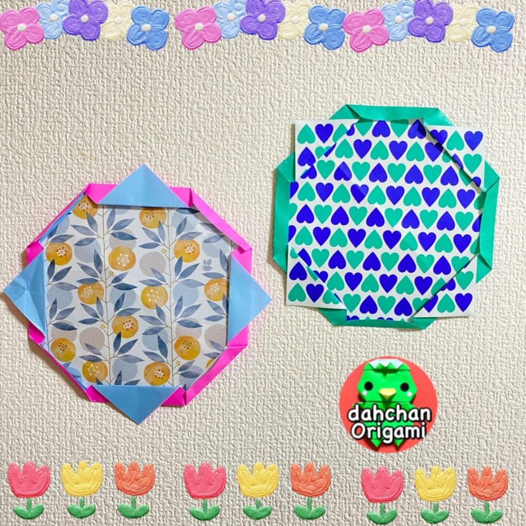 だ〜ちゃんさんによるシンプルサンフレームの折り紙