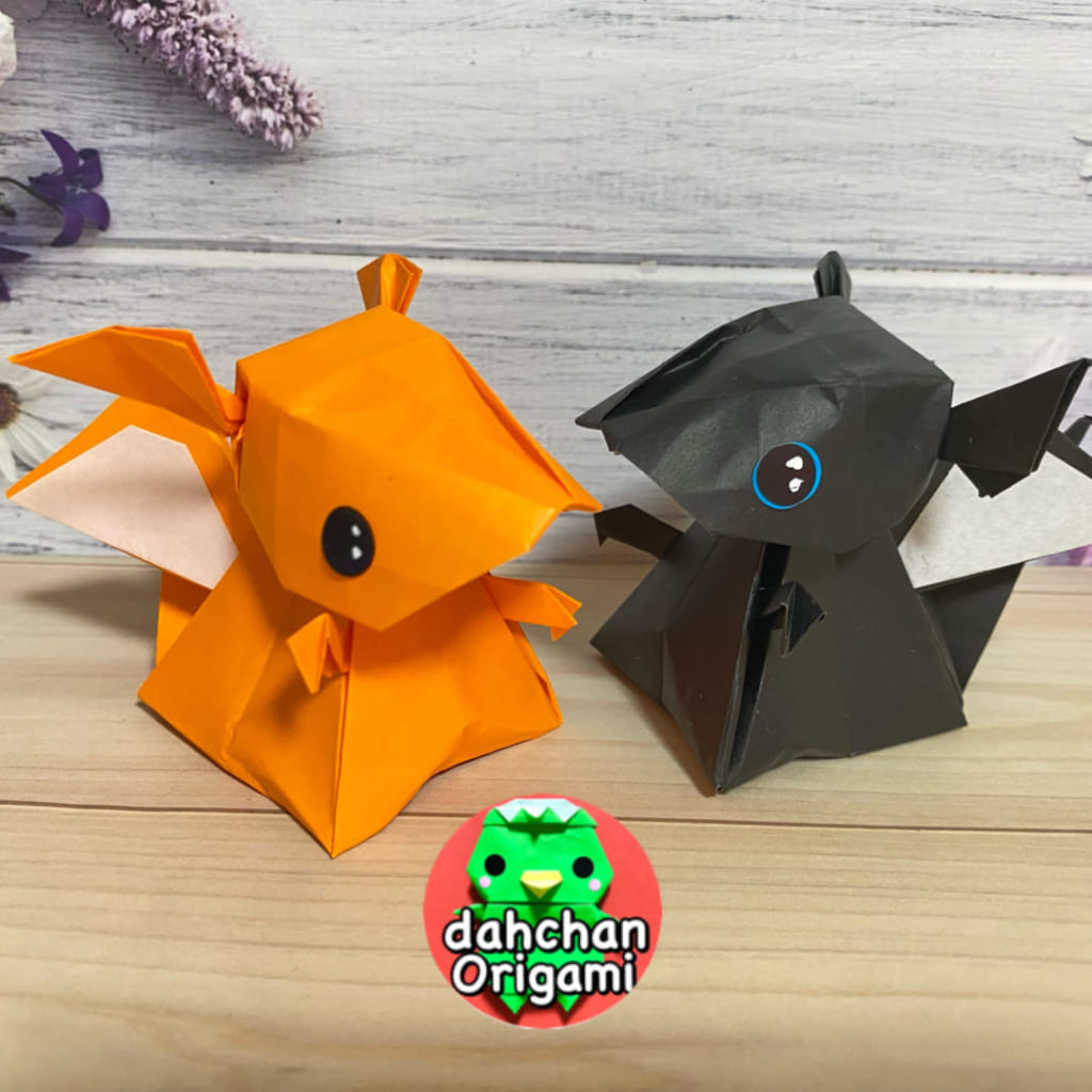 だ〜ちゃんさんによる立体ドラゴンの折り紙