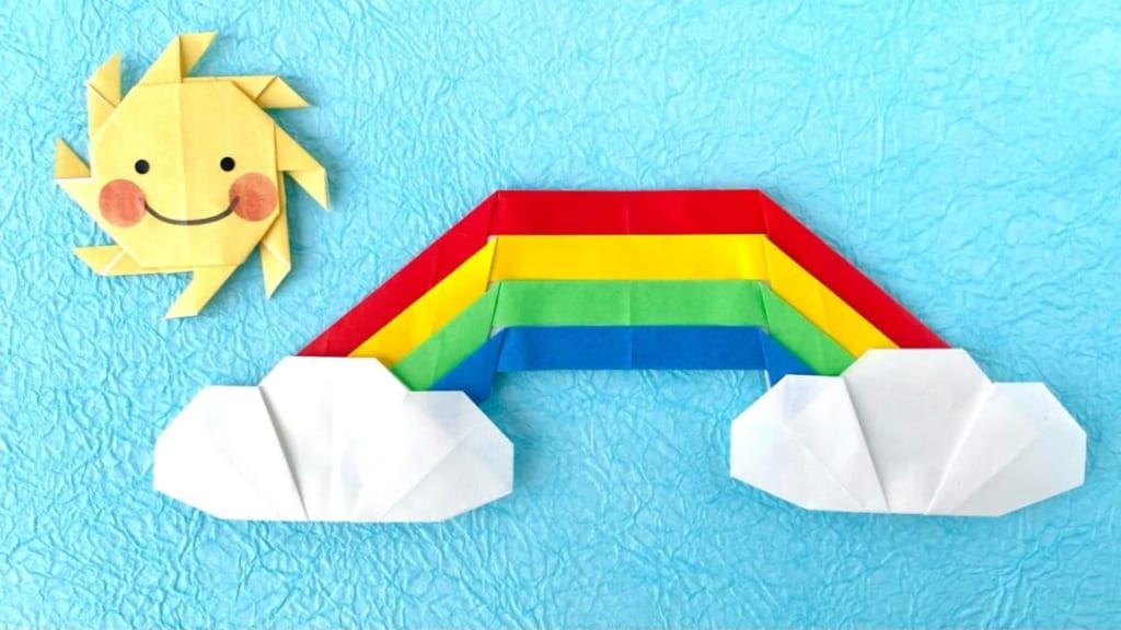 カミキィさんによる虹の折り紙