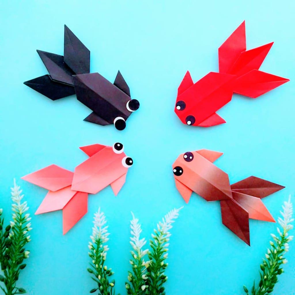 hiroko_daichanさんによる金魚の折り紙