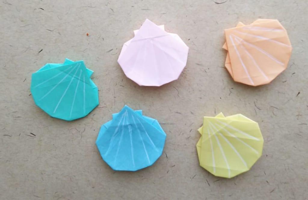hiroko_daichanさんによる貝の折り紙