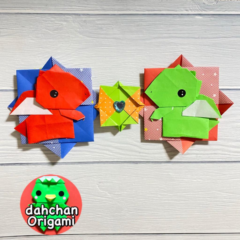 だ〜ちゃんさんによるドラゴン(平面)の折り紙