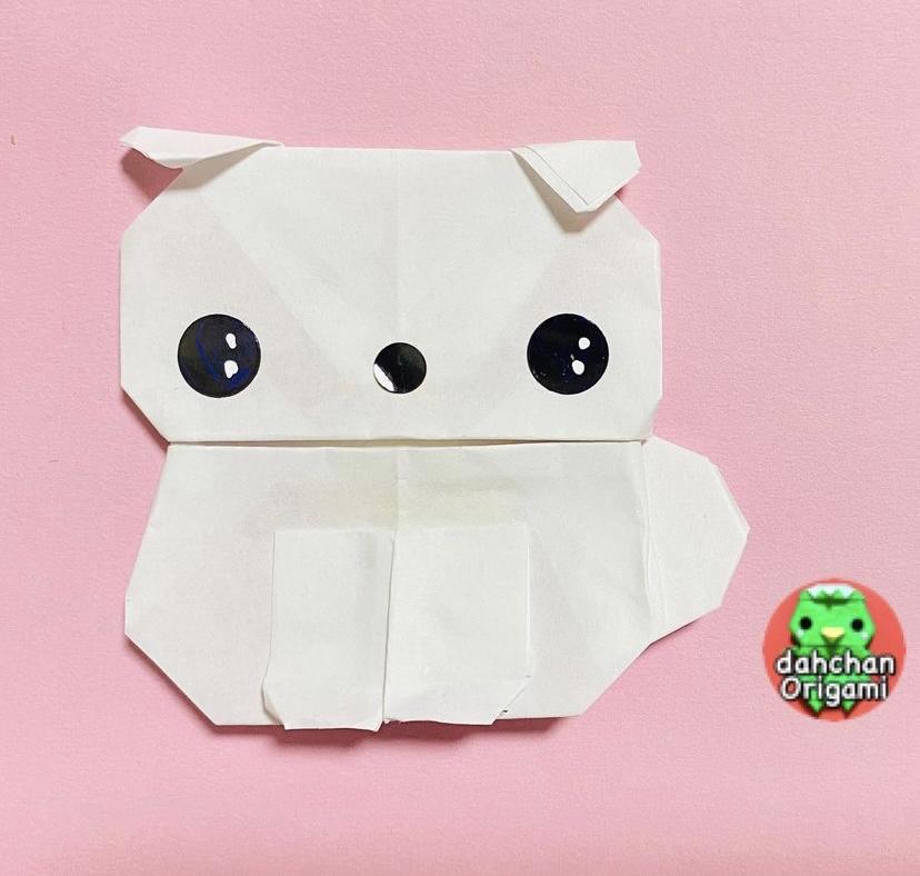 だ〜ちゃんさんによるぽってり犬の折り紙