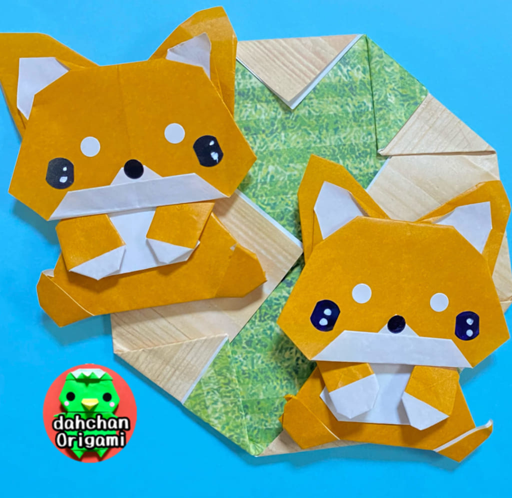 だ〜ちゃんさんによるおすわり柴犬の折り紙