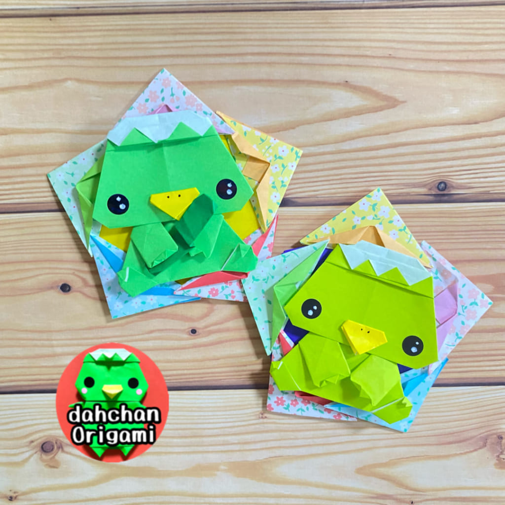 だ〜ちゃんさんによるおすわりカッパ(かっぴー)の折り紙