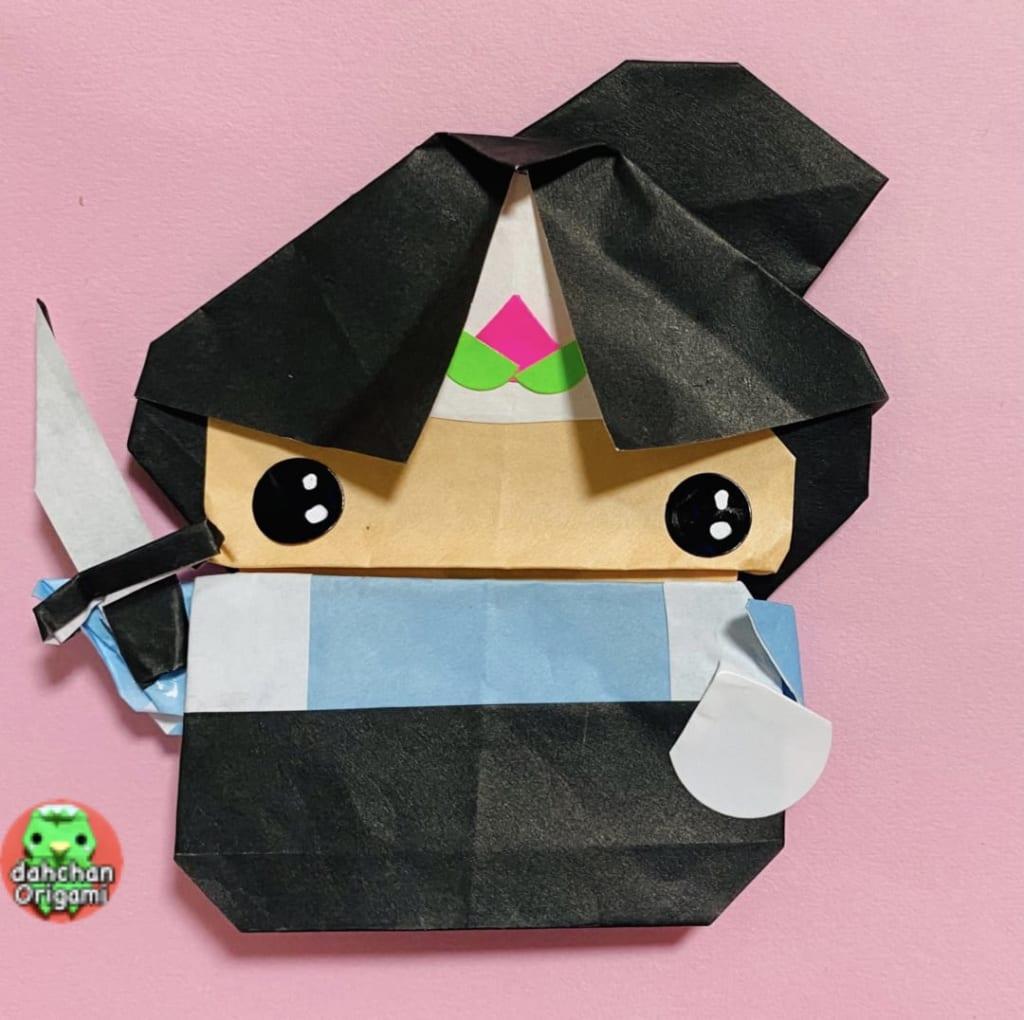 だ〜ちゃんさんによるぽってり桃太郎の折り紙