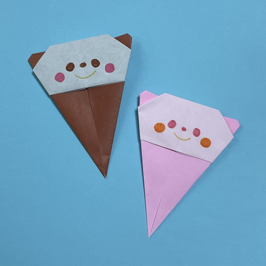 youandmeさんによるパンダアイスの折り紙