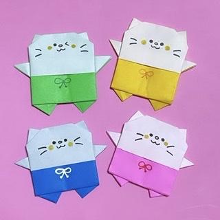 youandmeさんによるパンツネコちゃんの折り紙