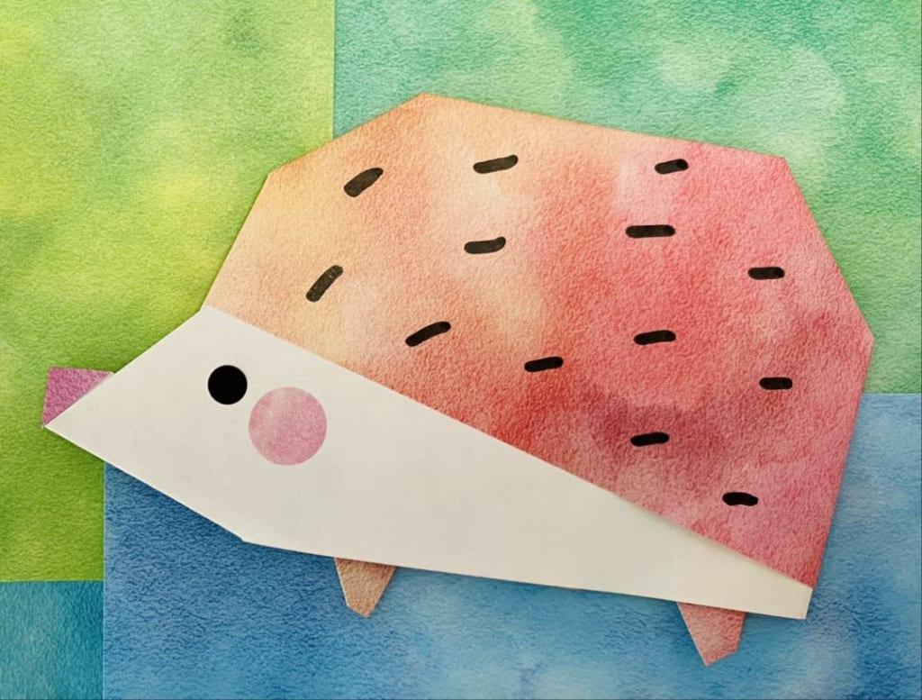 カミキィさんによるハリネズミの折り紙