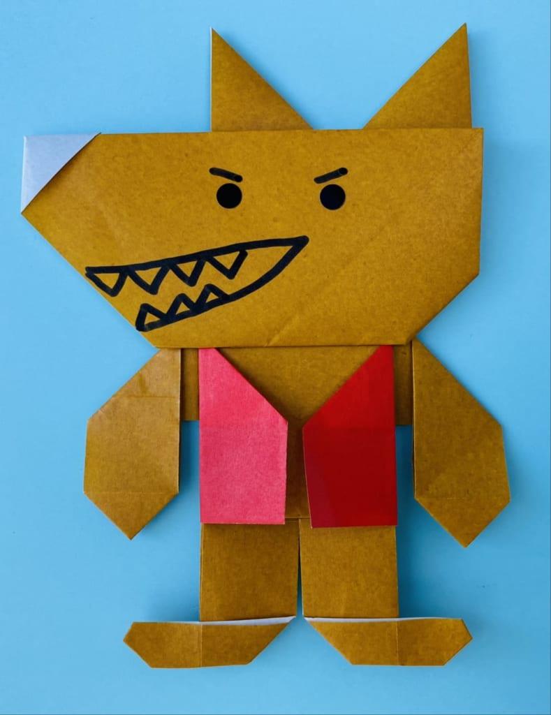 カミキィさんによるオオカミ男の折り紙