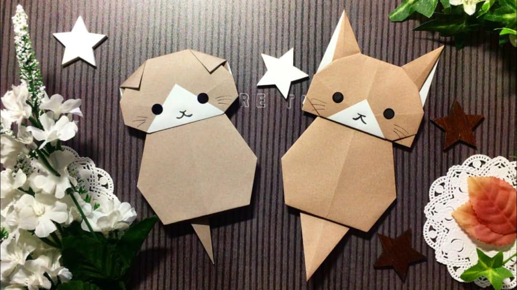 Oriya小町さんによるうちの子いちばん!「洋猫」の折り紙