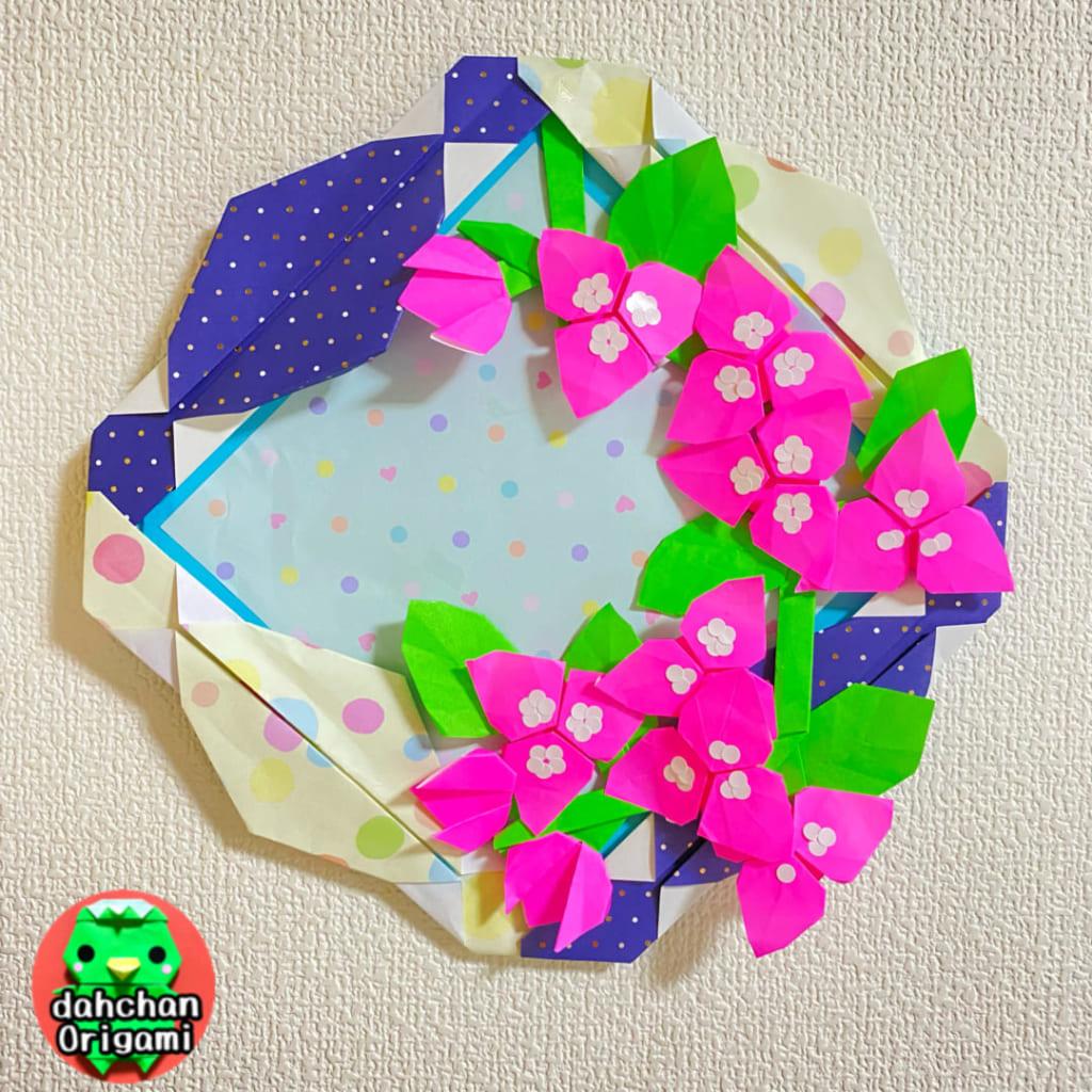 だ〜ちゃんさんによるブーゲンビリア(平面)の折り紙