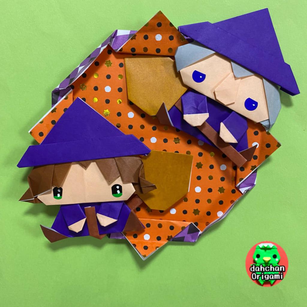 だ〜ちゃんさんによるおすわり魔女の折り紙