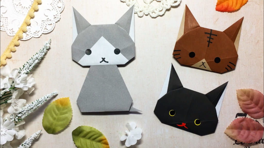 Oriya小町さんによるうちの子いちばん!「猫」の折り紙